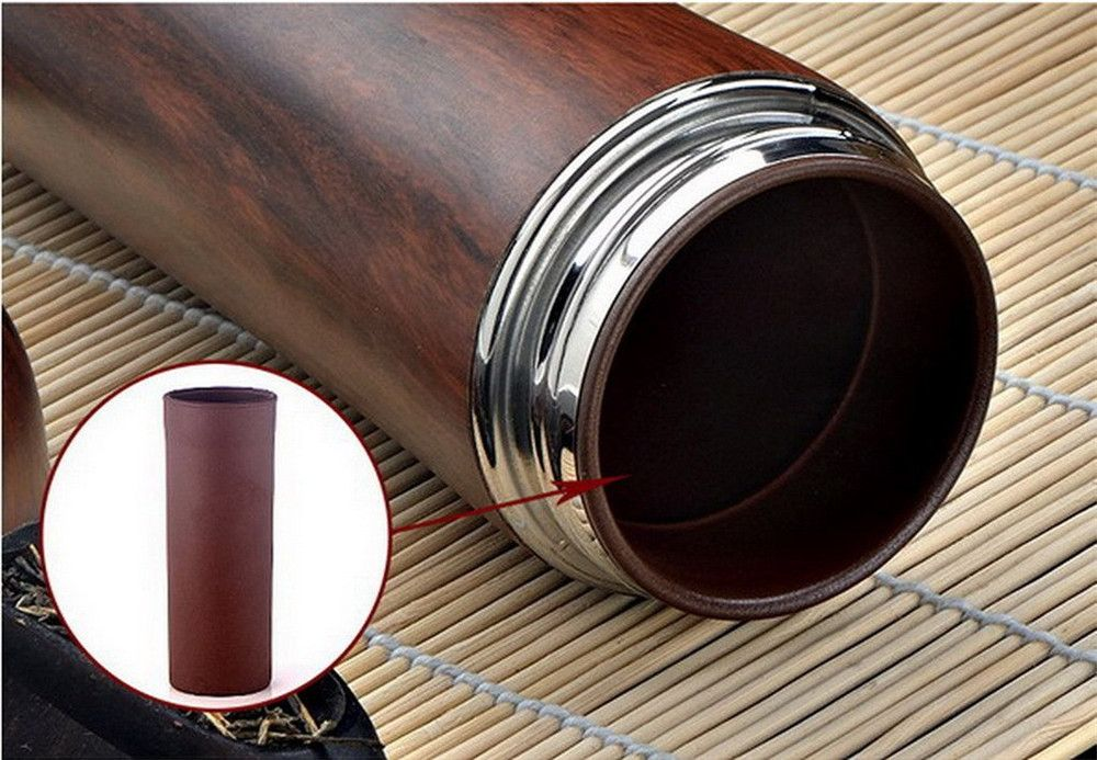 The Violet Arenaceous Vacuum Stainless Steel Thermos Flask Tea Cups