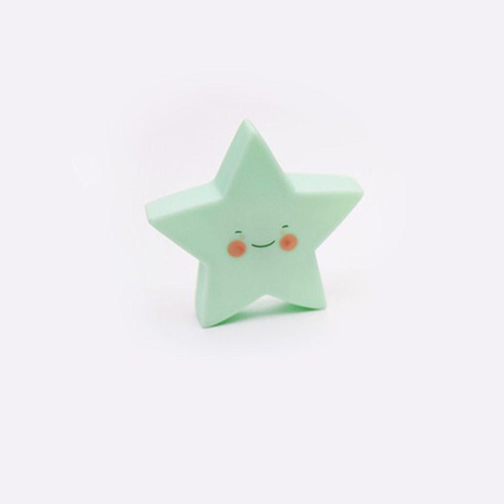 Cartoon Lovely Green Star Shape Children Sleeping Bedroom  LED Night Light