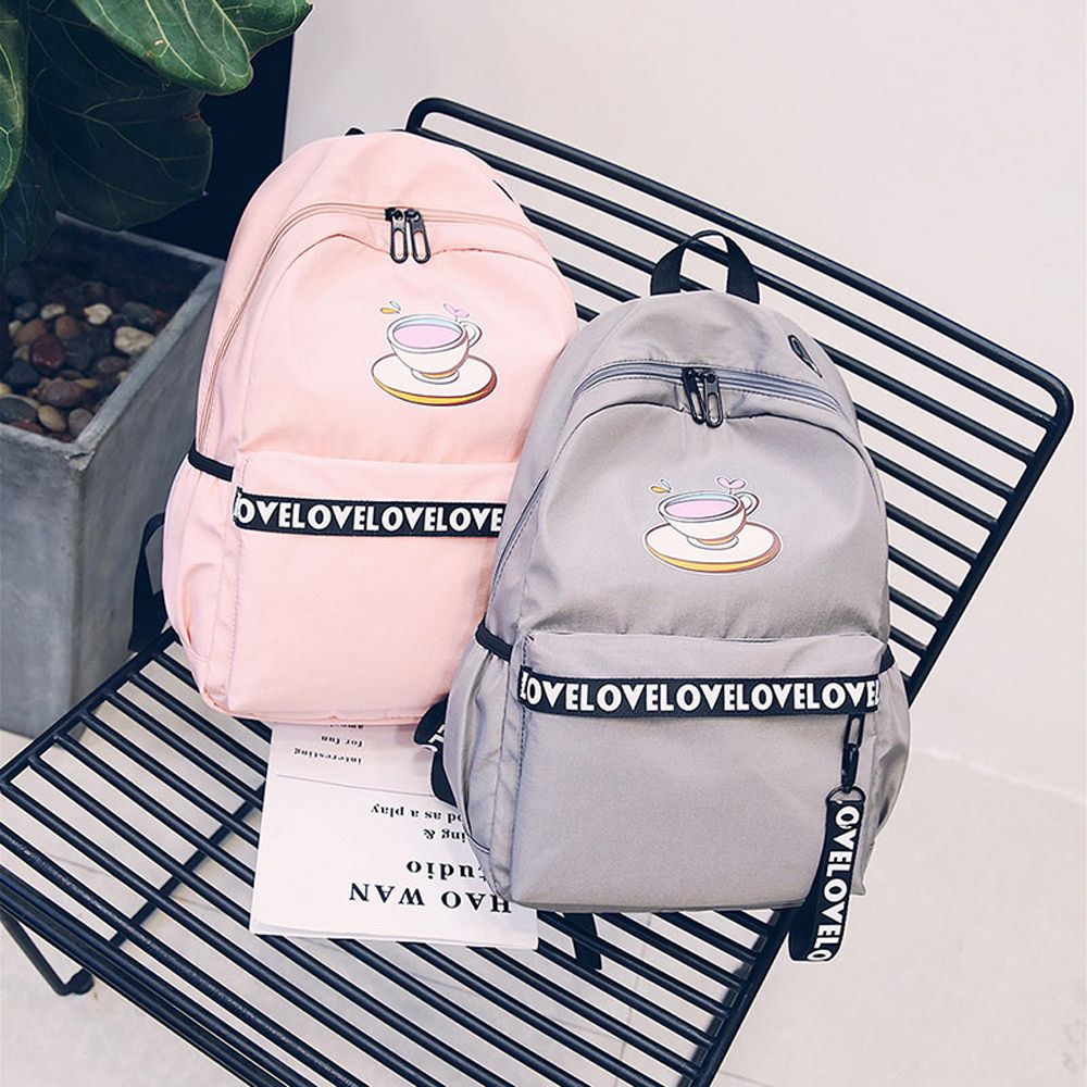 Women's Backpack Plain Style Glasses Print Stylish All Match Travel Back Bag