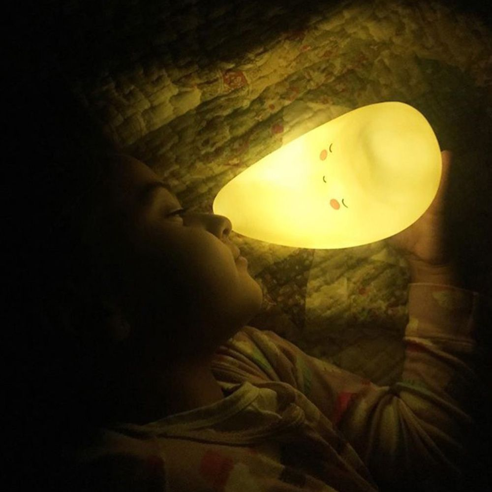 Cartoon Lovely  Moon Shape Children Sleeping Bedroom  LED Night Light