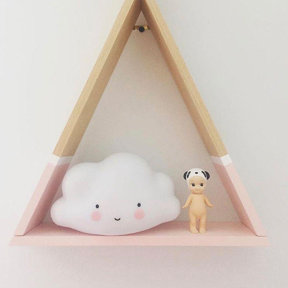 Cartoon Lovely White Cloud Shape Children Sleeping Bedroom LED Night Light
