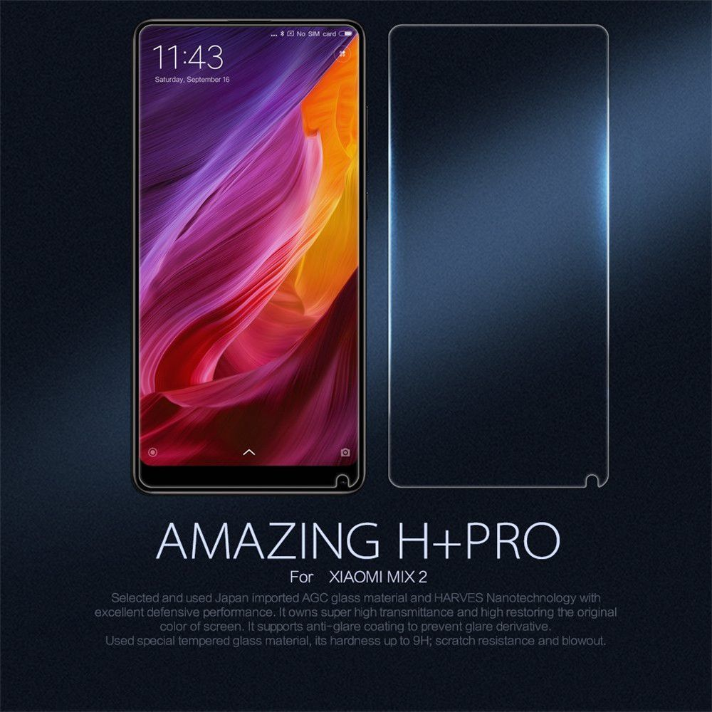 Screen Protector for Xiaomi Mi Mix2 HD Full Coverage High Clear Premium Tempered Glass