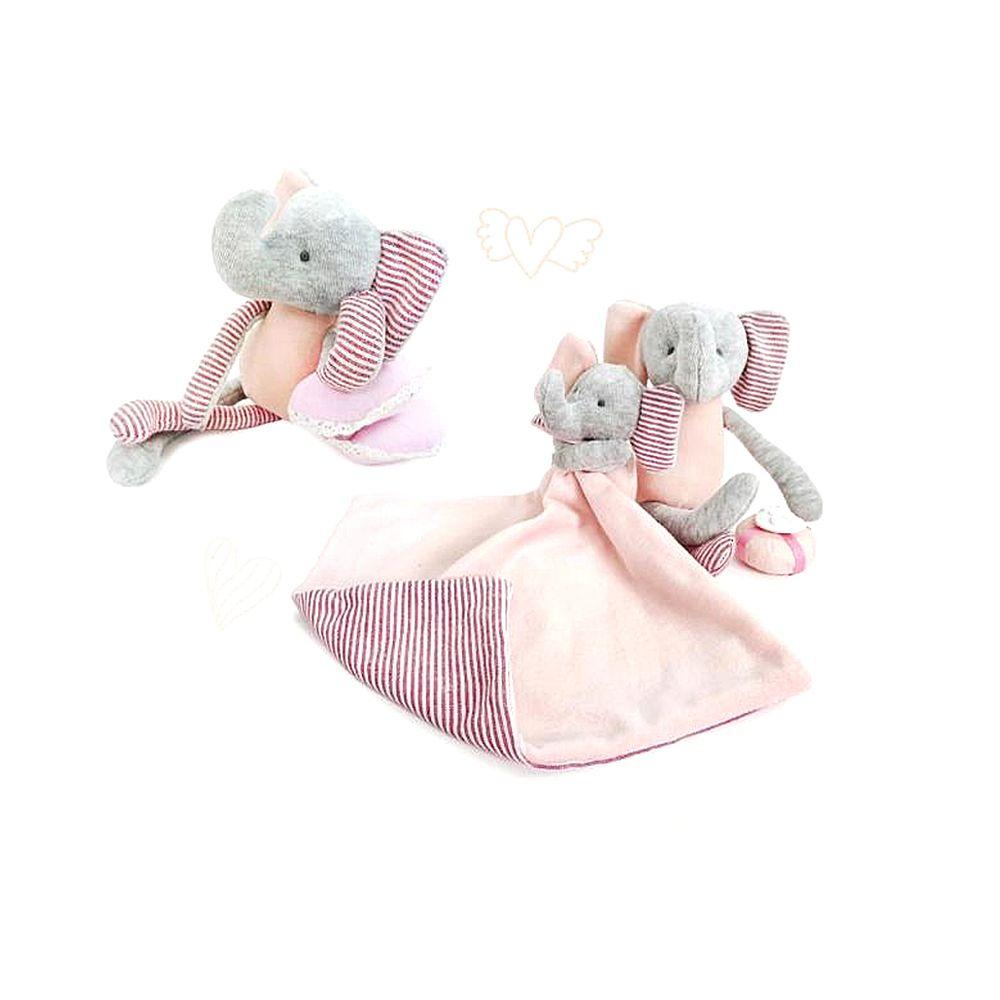Pink Baby Cotton Cloth Elephant Dolls