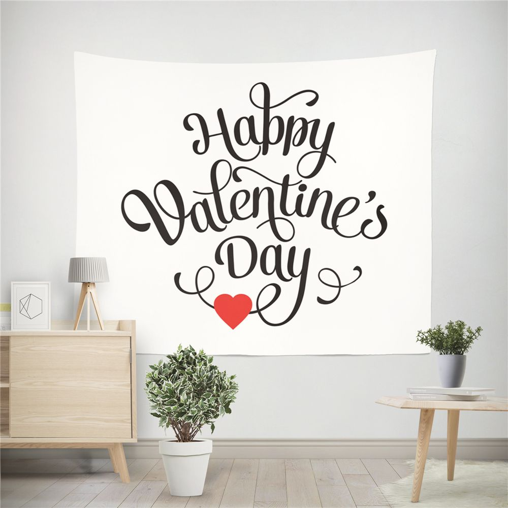 Hand-Made Hd Digital Printing Wall Decoration Tapestry Valentine'S Day Decoration