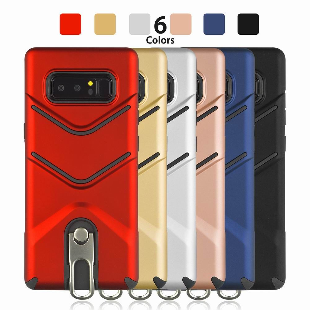 Kickstand Shock Proof Case For Samsung Galaxy Note8 Case Luxury Back Cases Cover