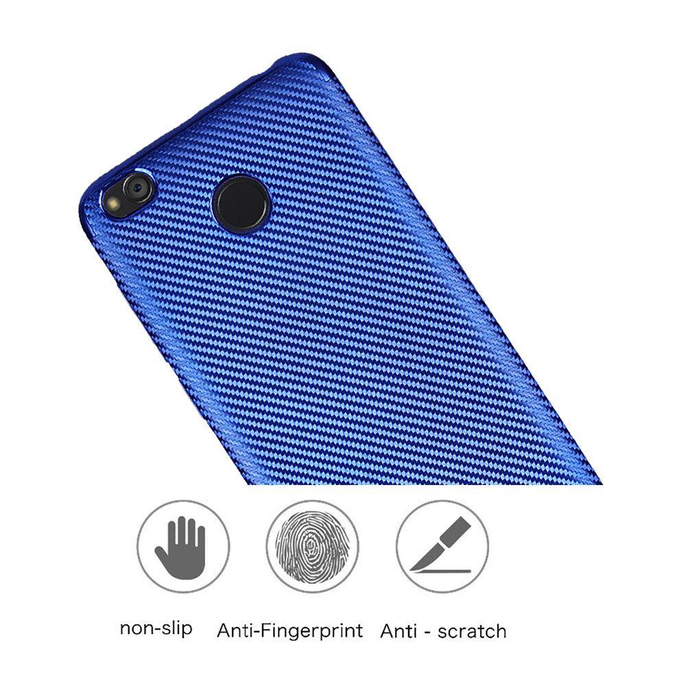 Electroplated Carbon Fiber Case for Xiaomi Redmi 4X TPU Soft Back Cover