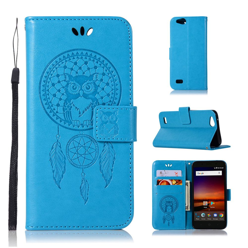 Owl Campanula Fashion Wallet Cover For ZTE Tempo X N9137 / Blade Vantage /  Avid 4 Z839 Case PU Flip Leather Case