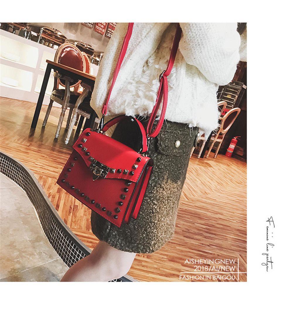 Handbag Fashion Rivets Small Square Shoulder Bag