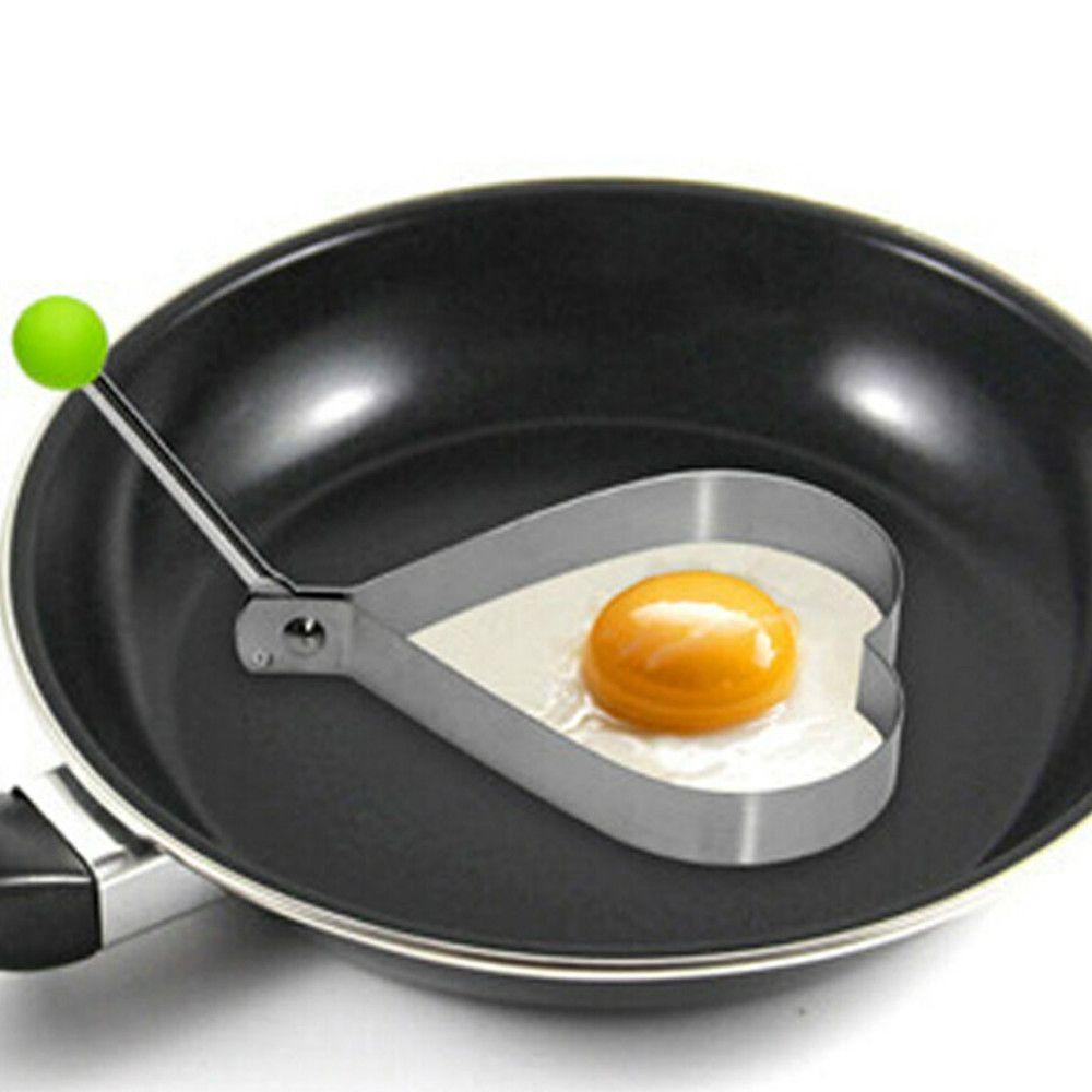 4 pcs Stainless Steel  Breakfast Omelette Mold  Pancake Ring Egg Shaped Kitchen Tool
