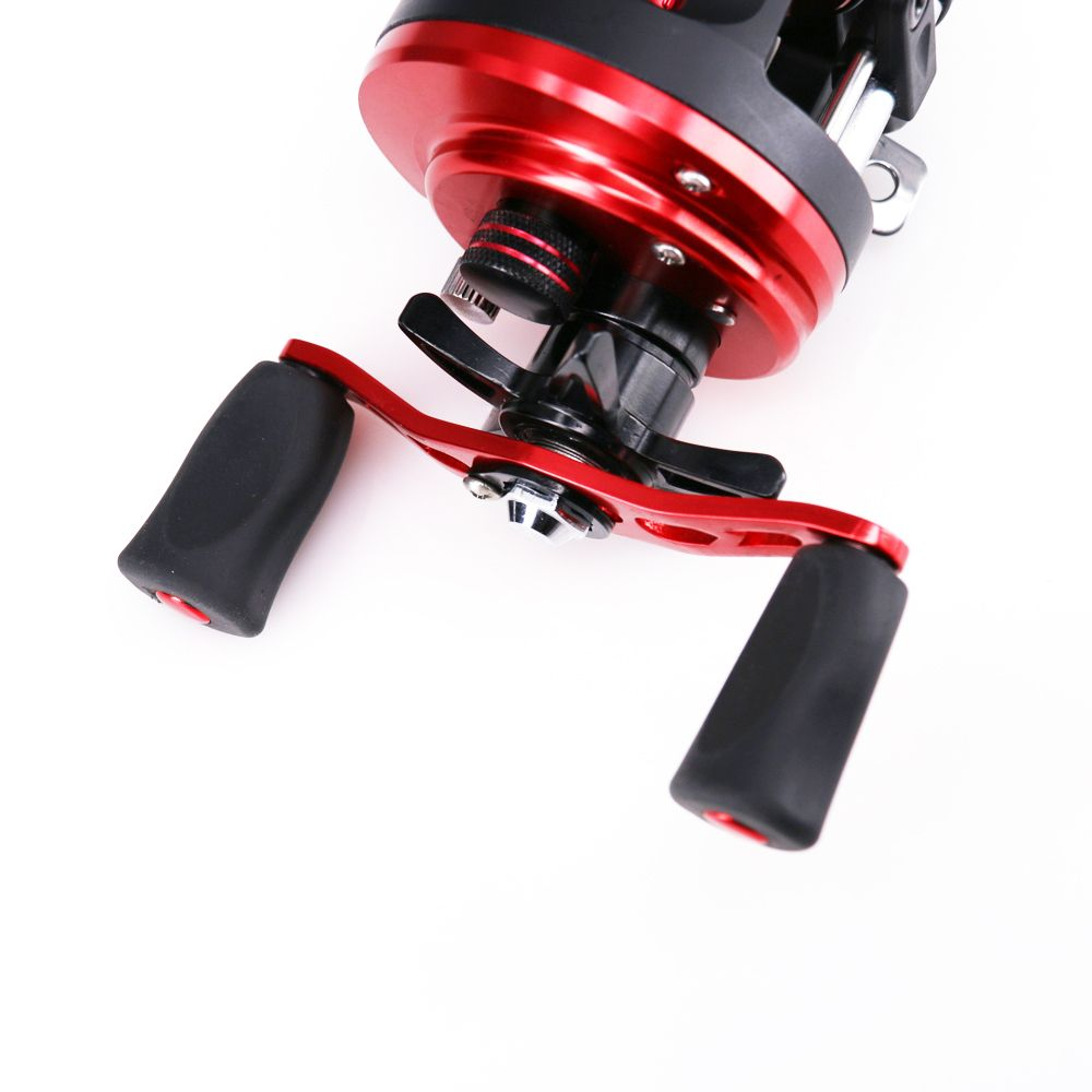 2018 New Arrival Baitcasting Round Fishing Reel with Double Soft Rubber Knob