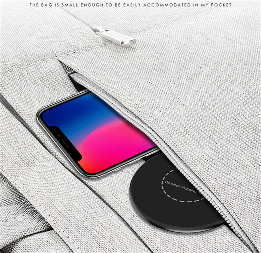 Portable Aluminum Alloy Wireless Charger Pad for iPhone X / 8/ 8 Plus / Samsung Galaxy Note 8 / S8 / S8Plus
