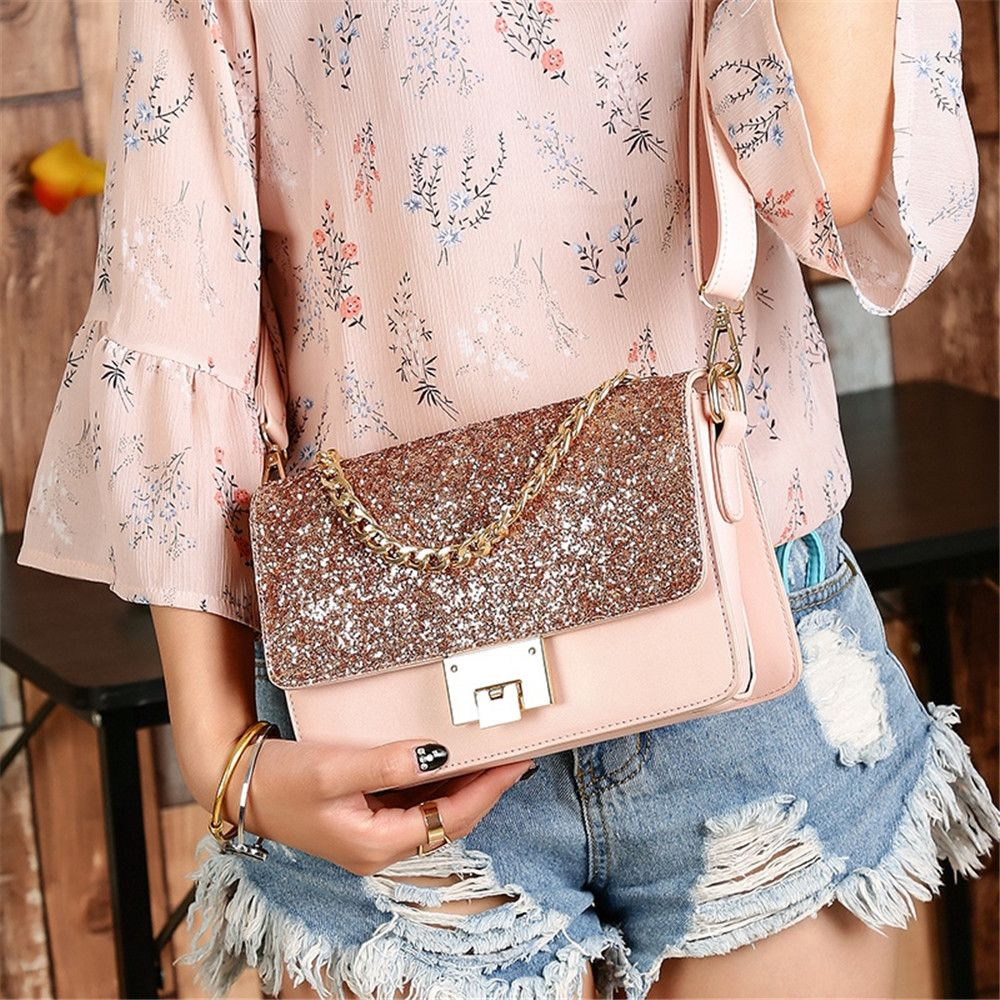 Sequined Female Korean Minimalist Personality Party Shoulder All-match Hand Chain Temperament Small Package