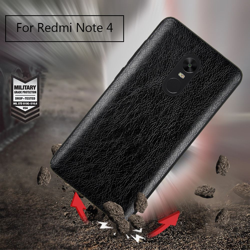 Cover Case for Redmi Note 4X / 4 Following From Crazy Ma Wen Leather Grain + PC
