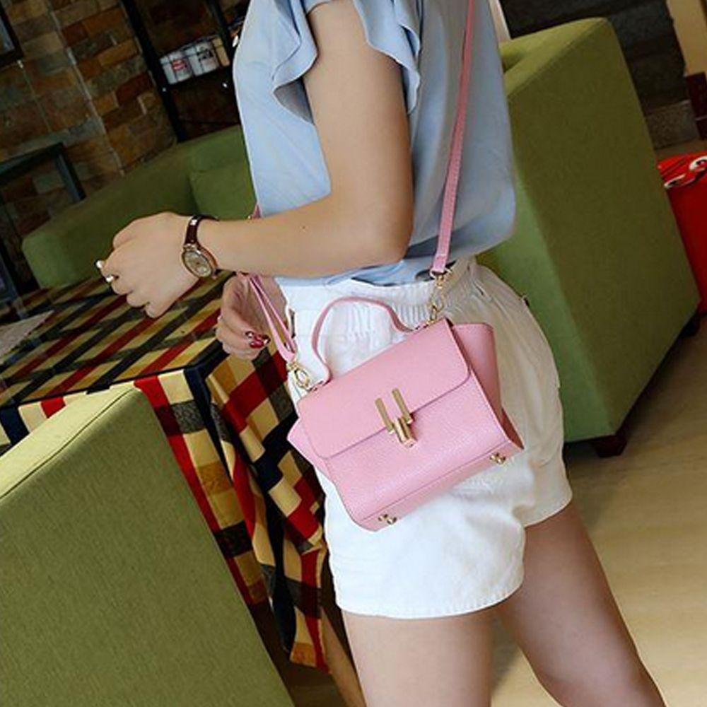 Women's Handbag Simple Solid Color Hasp Versatile Bag