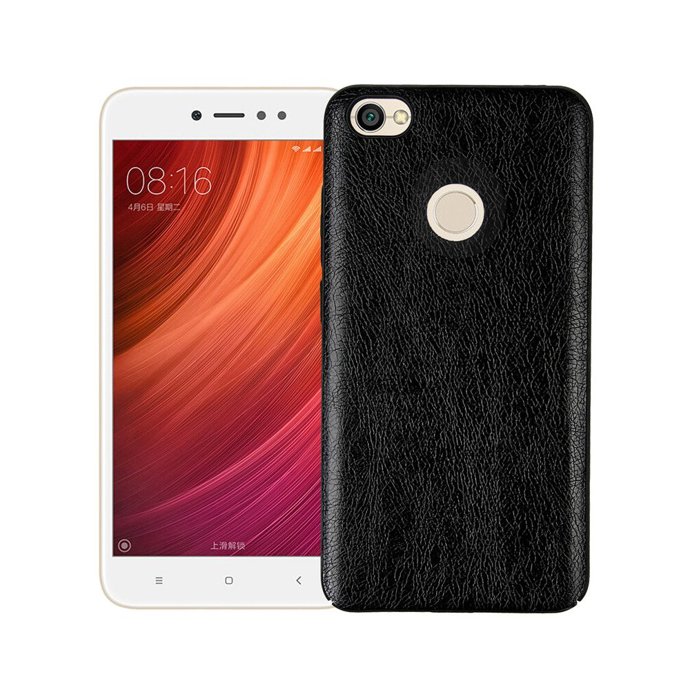 Cover Case for Xiaomi Redmi Note 5A Prime Following From Leather Grain + PC