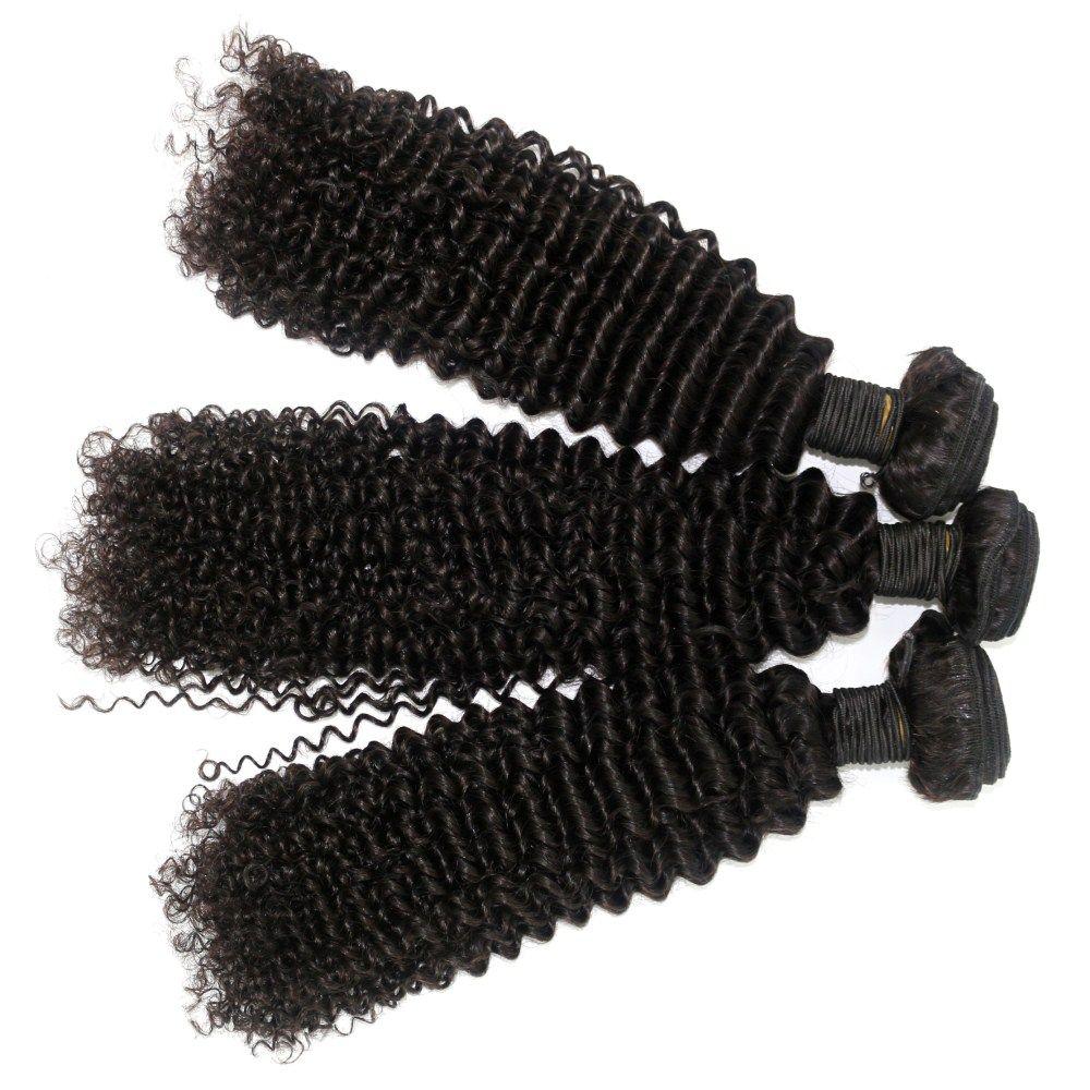 Kinky Curl 100 Percent Brazilian Human Virgin Hair Weave 10 - 22 inch 3pcs/lot