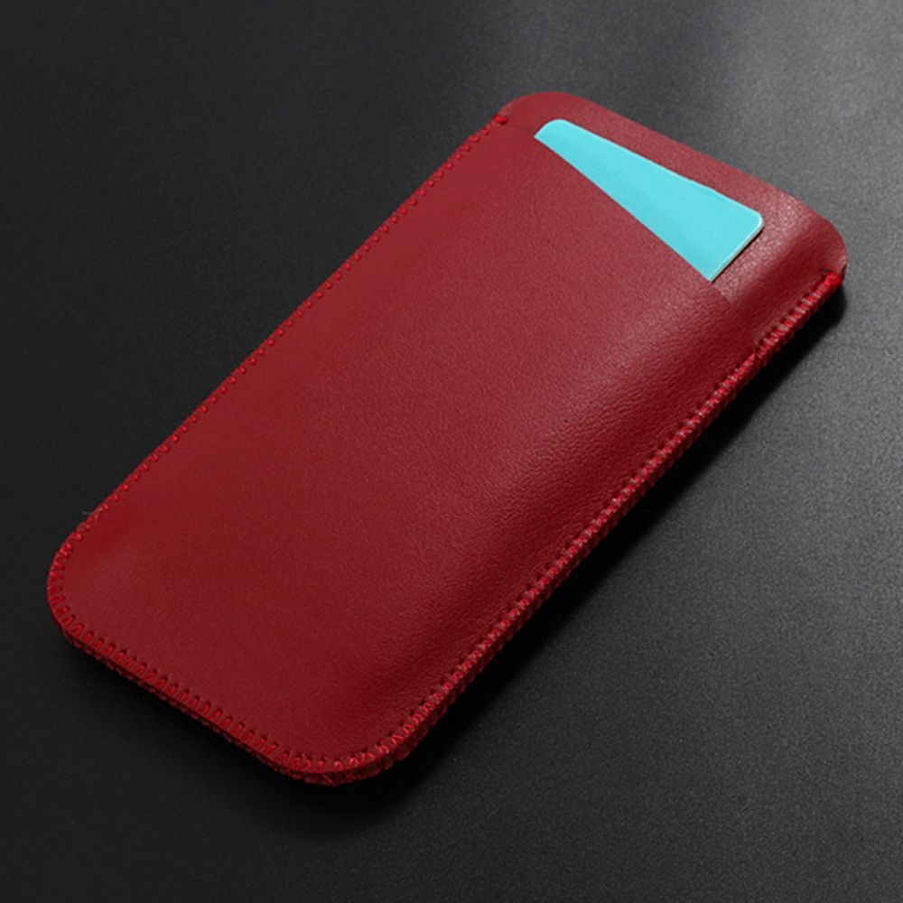 Charmsunsleeve For UMIDIGI S 5.5 inch Case Ultra-thin Microfiber Leather Phone Sleeve Bag Card Pocket