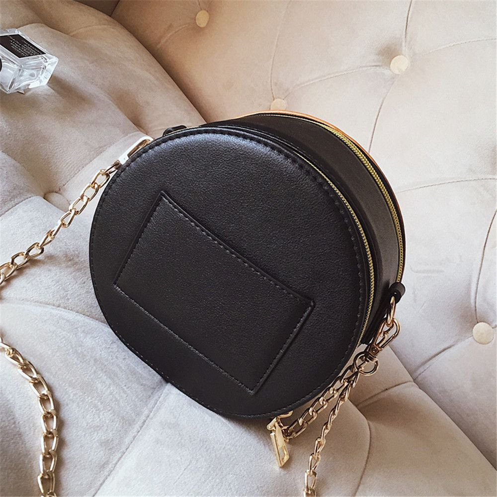 Bag Female Fashion Wild Pattern Purse Simple Shoulder Diagonal Chain Package