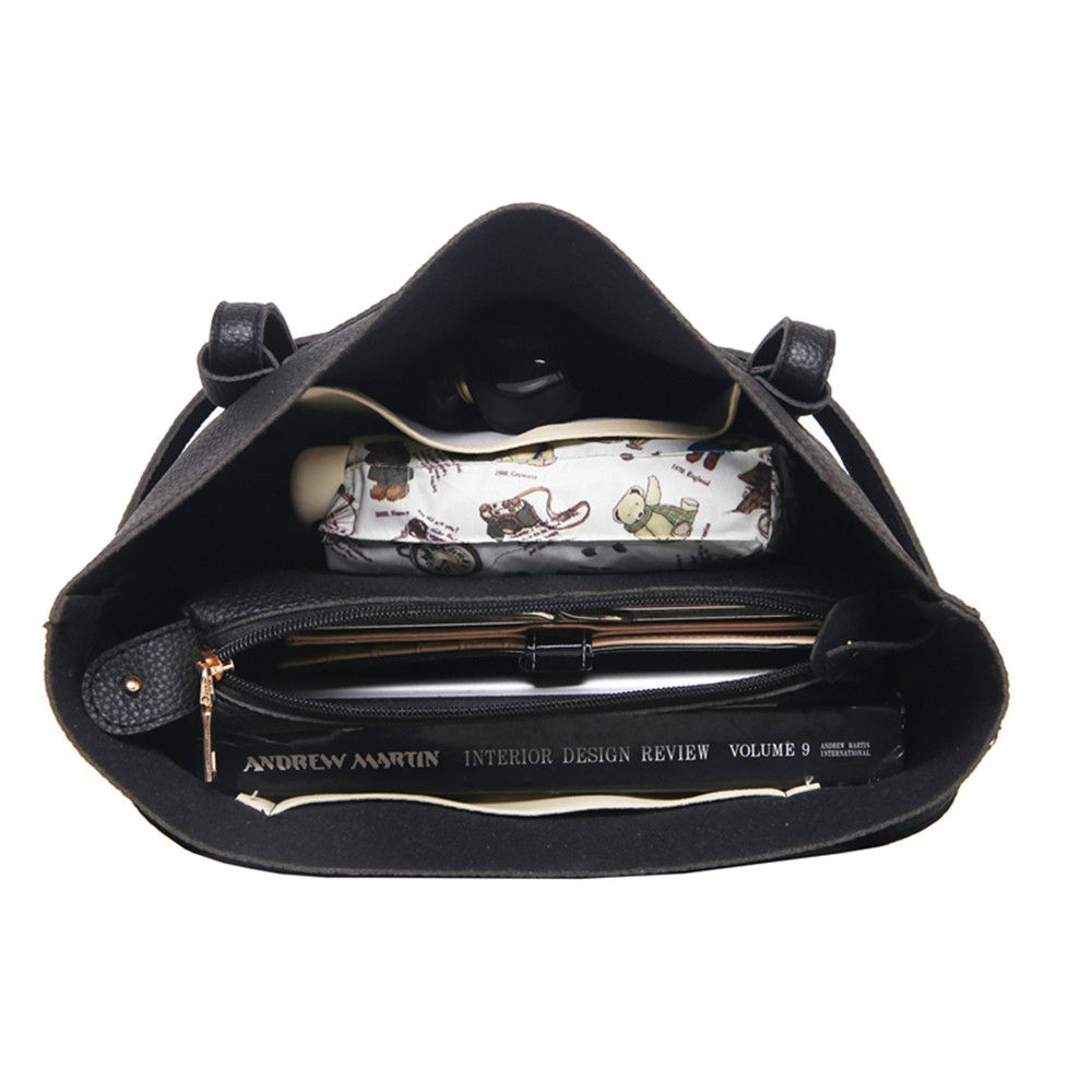 Four-Piece Package Grain Mobile Fashion Shoulder Messenger Female Bag