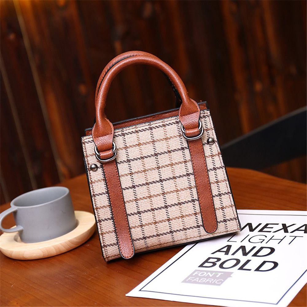 Bucket Female Fashion Wool Handbag Matte Wild Shoulder Messenger Bag