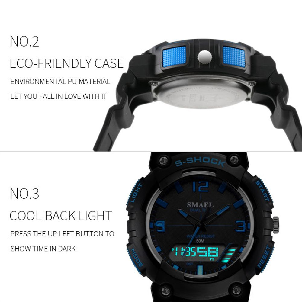 SMAEL SL1539C Multi-function Waterproof Durable Electronic Watch for Students