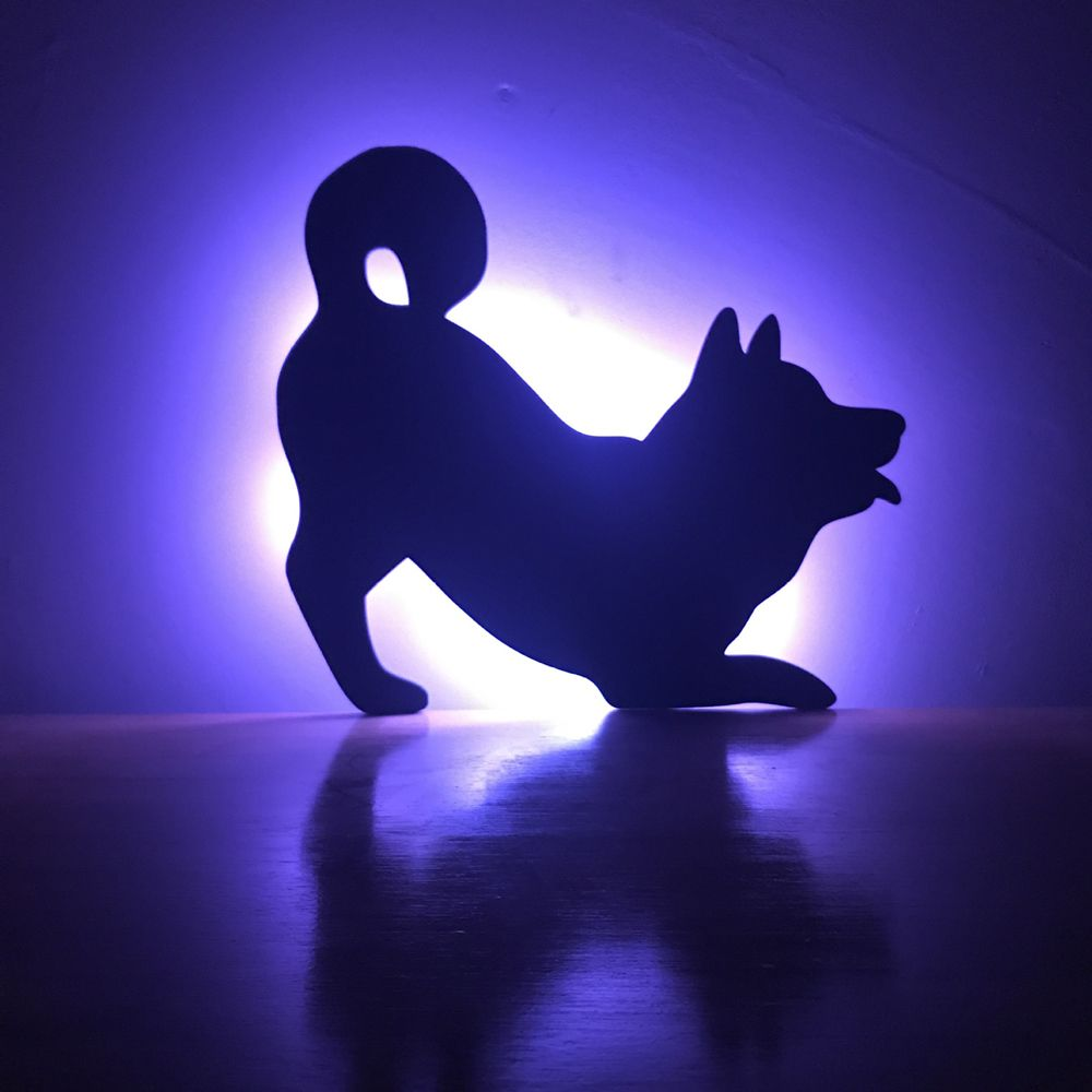 Colorful Remote Dog Shadow Projection Lamp LED  Night Light