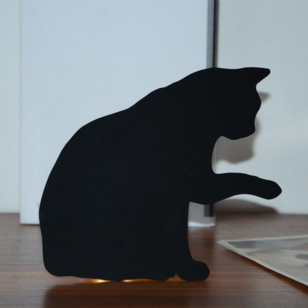 Colorful Remote Lick The Hair Cat Shadow Projection Lamp LED  Night Light