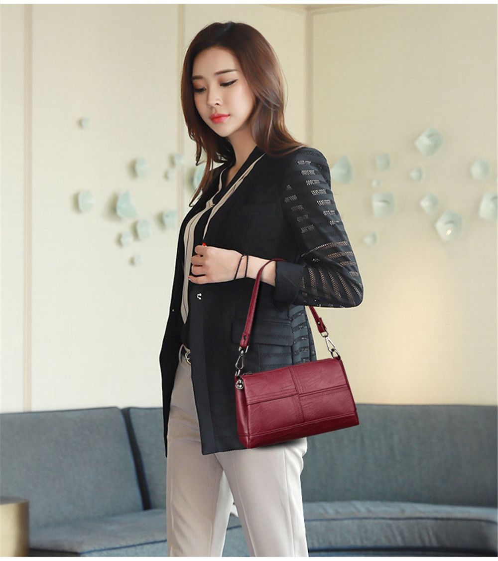 Messenger Female Fashion Stitching Wild Shoulder Bag