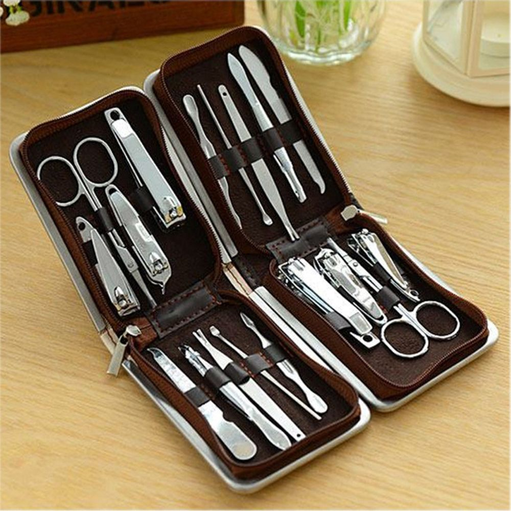 9PCS Stainless Steel Nail Clippers Manicure Tool Set