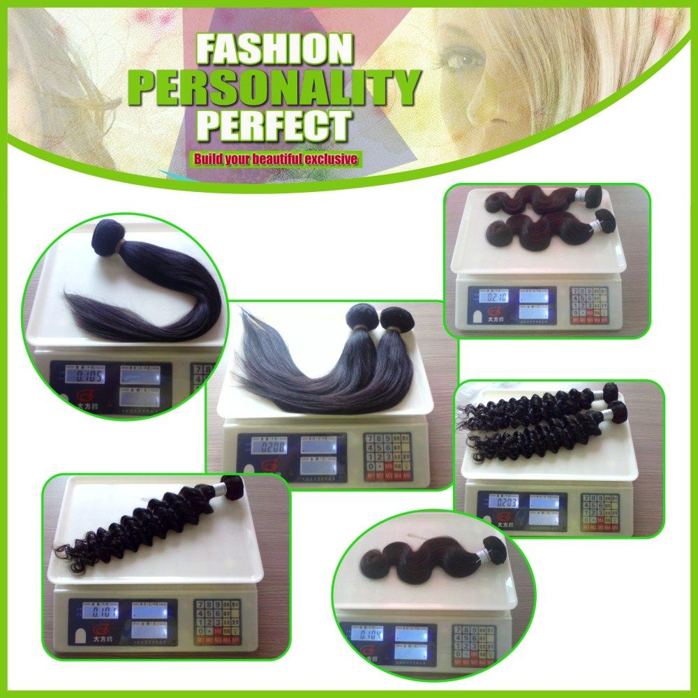 Straight 100 Percent Indian Human Virgin Hair Weave 3pcs with 1pc Lace Closure