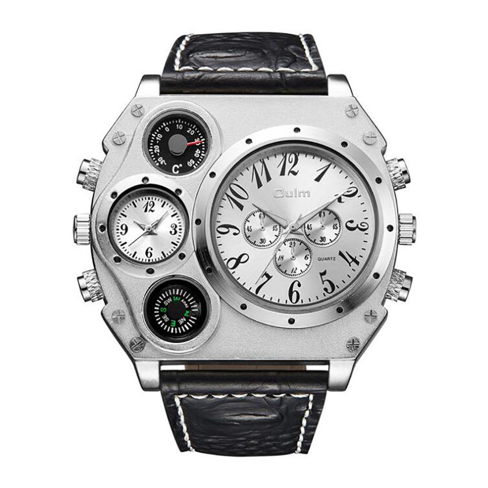 Large Dial Multi Time Man Watch
