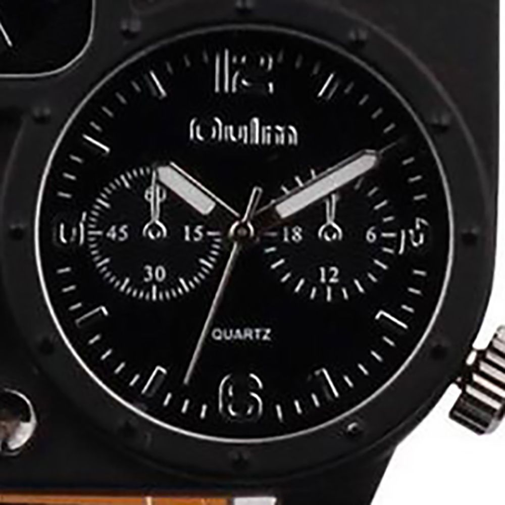 Male Fashion Compass Thermometer in Two Places Quartz Watch