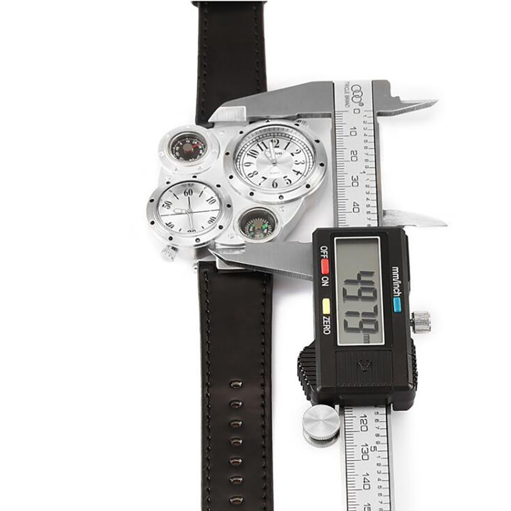 Foreign Trade Double Time Zone Men's Personality Watch