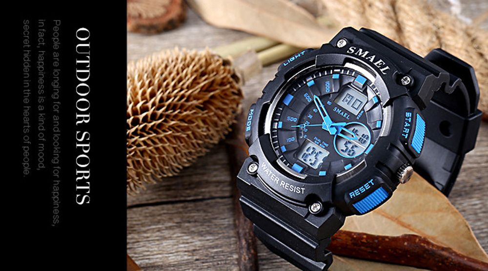 SMAEL 1539 Multi-function Waterproof Electronic Sport Watch for Kids