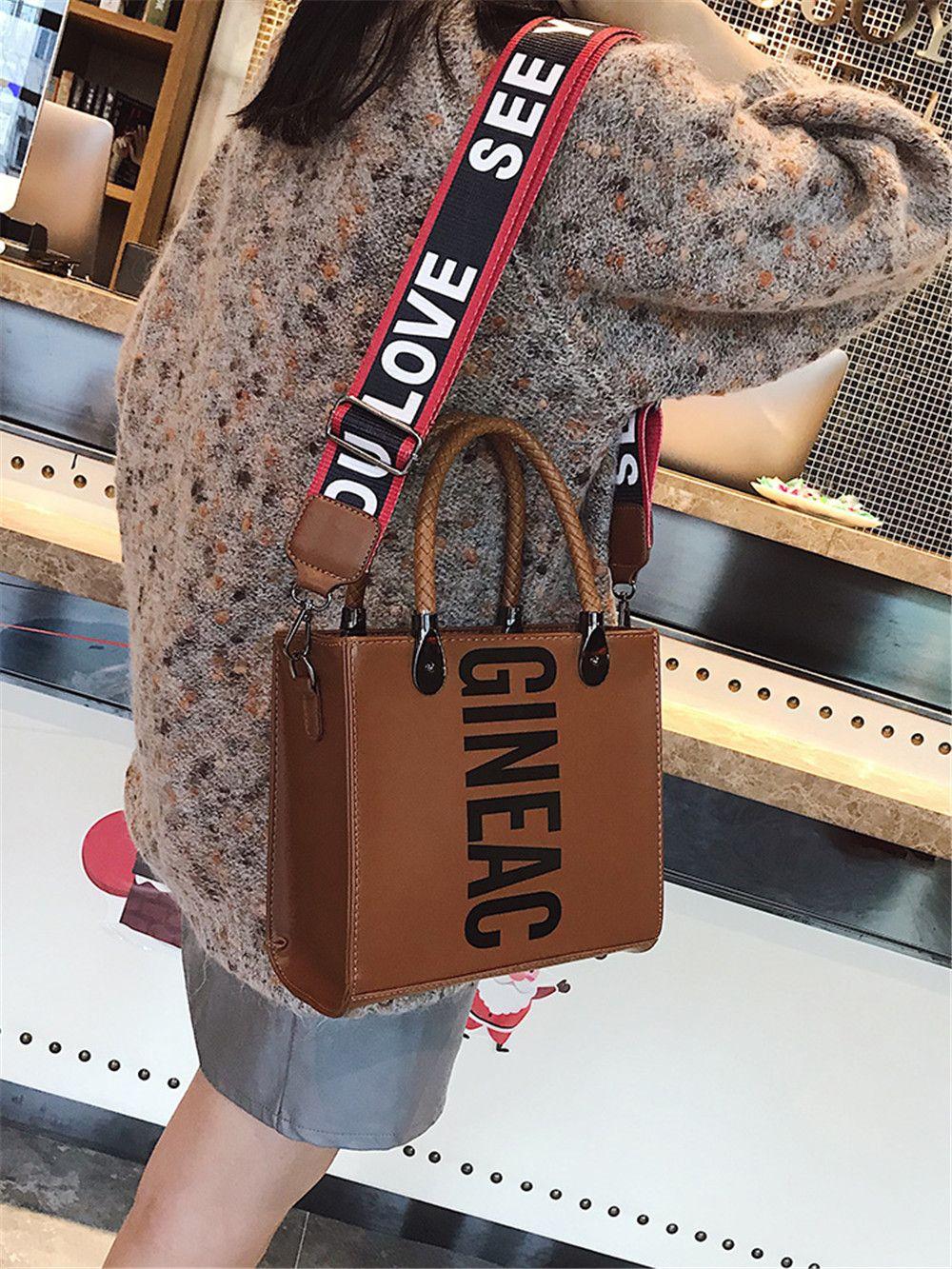 Women'S Wild Big Bag Wide-Leg Messenger Shoulder Shoulder Simple Tote Bag