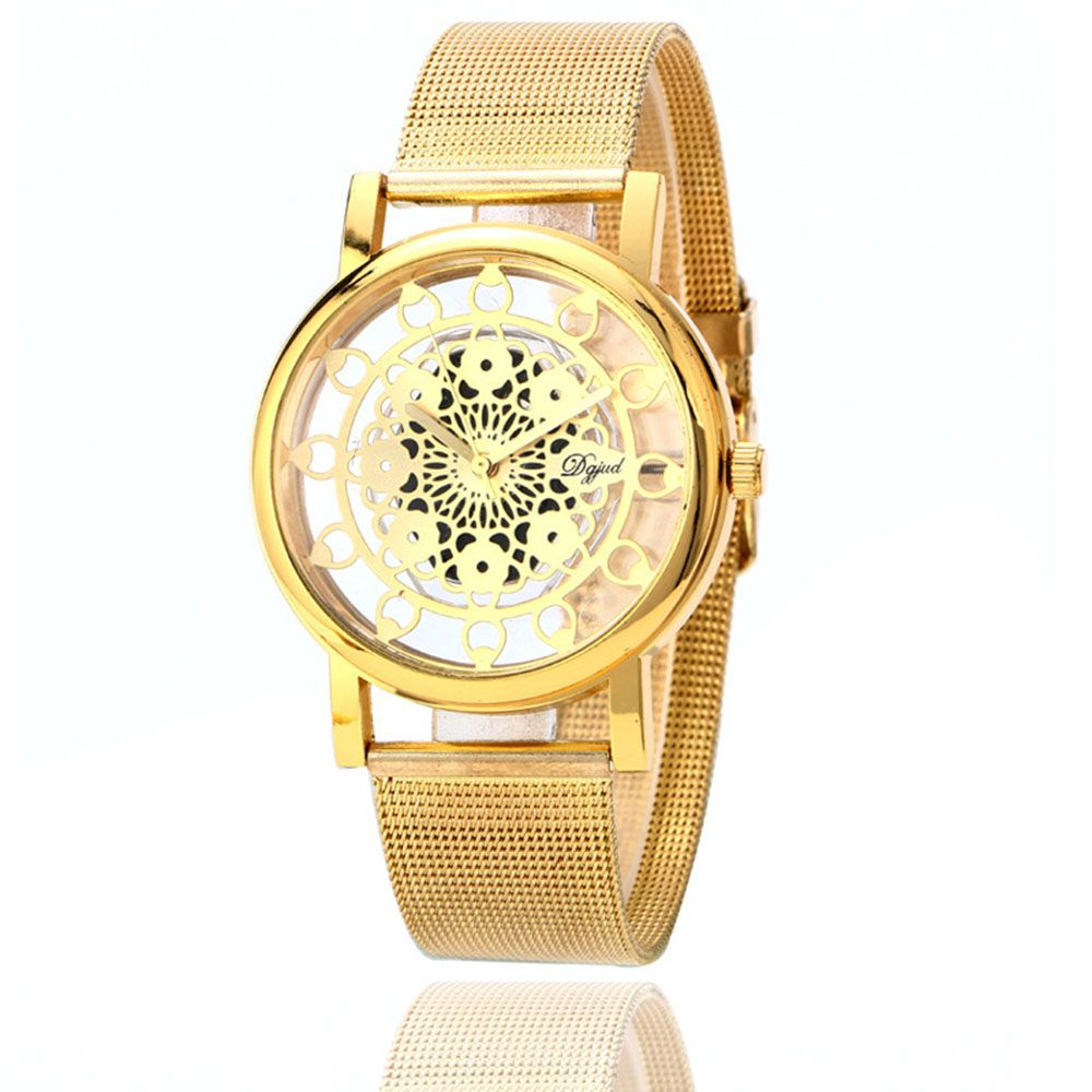 Hollow Stylish Stainless Steel Mesh Band Watch