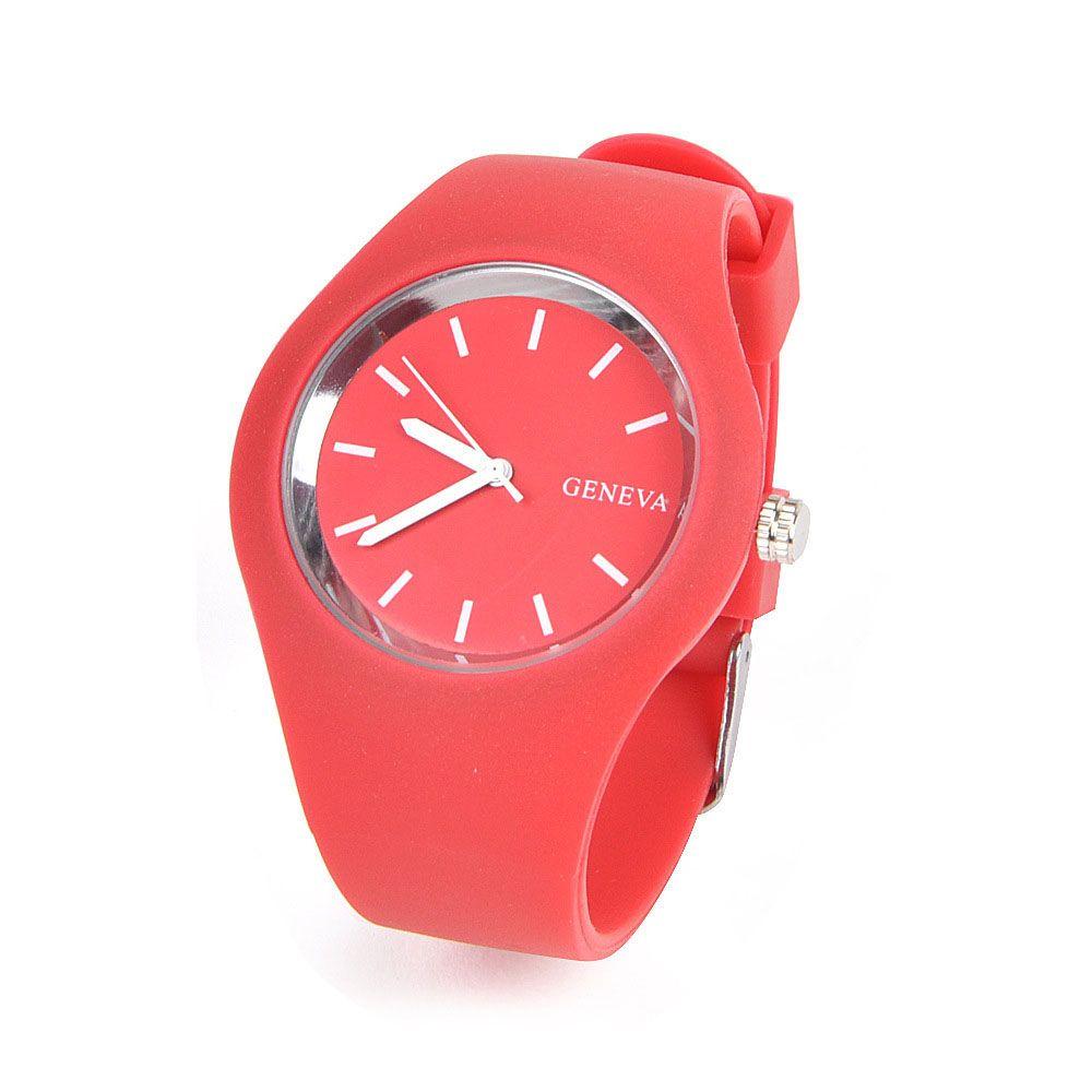 Stylish Simple Silicone Band Women Watch