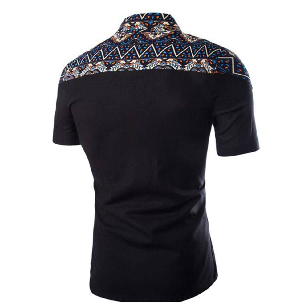 2018 Spring Printing Slim Popular Short-Sleeved Shirt