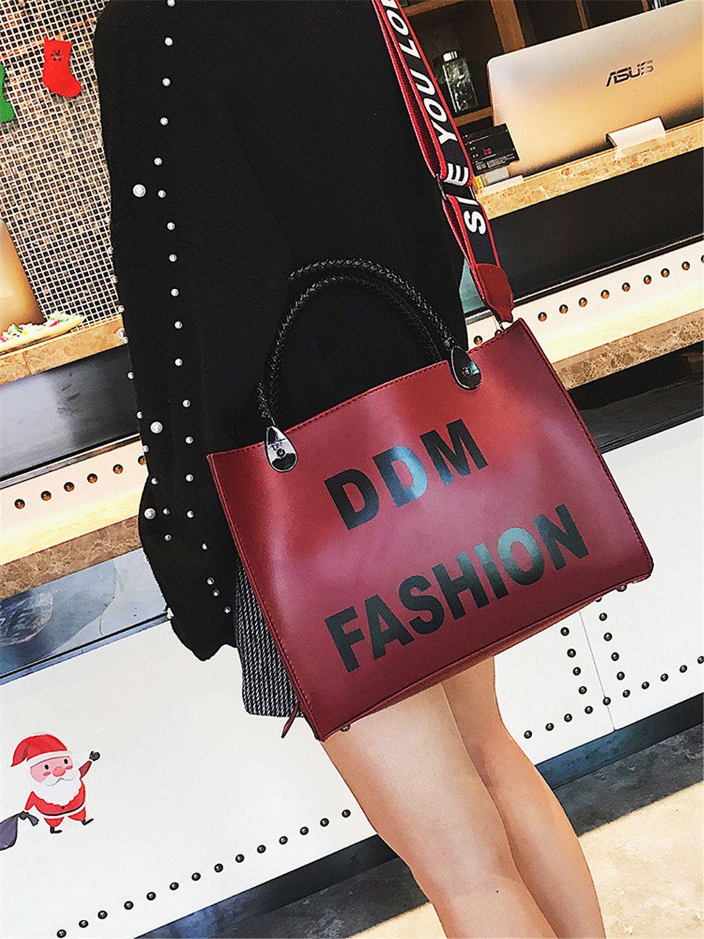 Female Harajuku Tote Bag Simple Wild Fashion Students Messenger Shoulder Bag