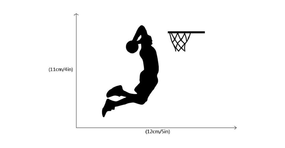 Basketball Player Dunk Silhouette Light Switch Sticker Cartoon Sport Vinyl Wall Decor
