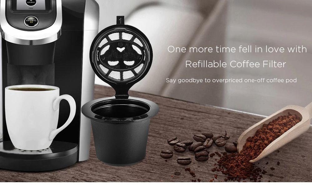 Stainless Steel Filter Refillable Coffee Capsule Cup Food Grade Pp Reusable Refilling Strainer For Nespresso