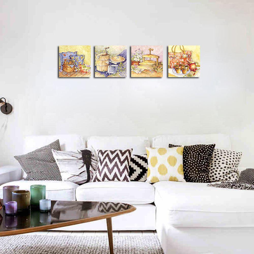 2018 QiaoJiaHuaYuan No Frame Canvas Living Room Sofa Background ...