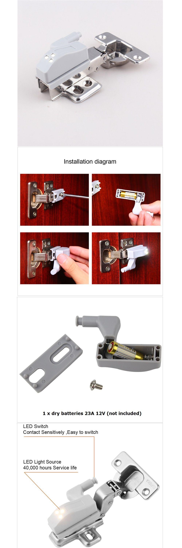 Kitchen Cabinet Hinge Lights. Led Cabinet Hinge Sensor Light For ...