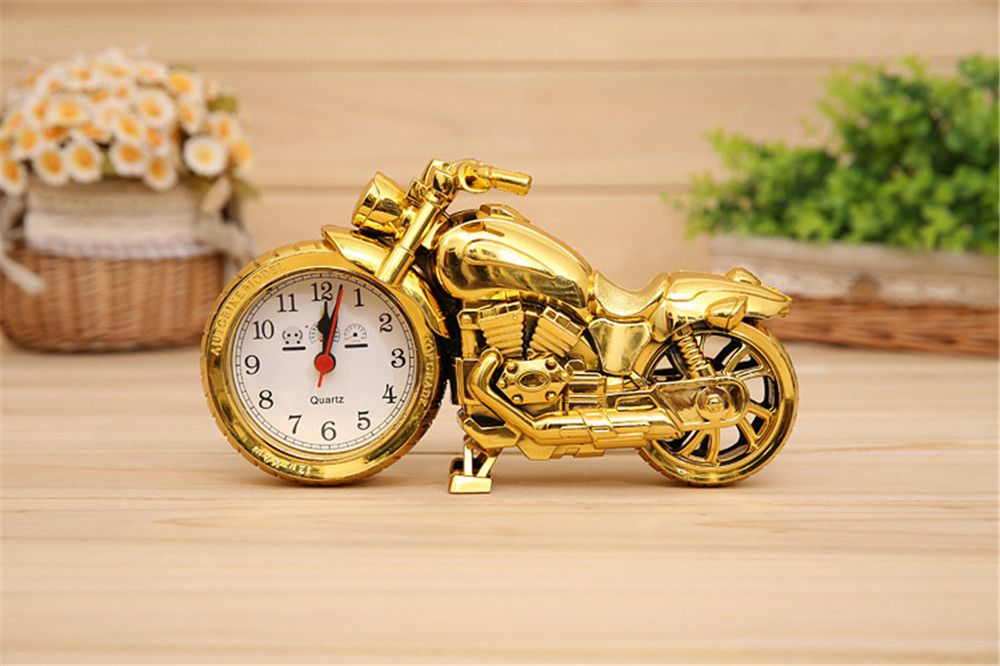 BALDR Creative Motorcycle Motorbike Pattern Alarm Clock Desk Creative Home