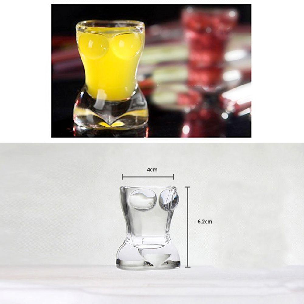 25ml 0.85oz Creative Sexy Lady Body Shape Vodka Whiskey Shot Wine Glass 2-Pack