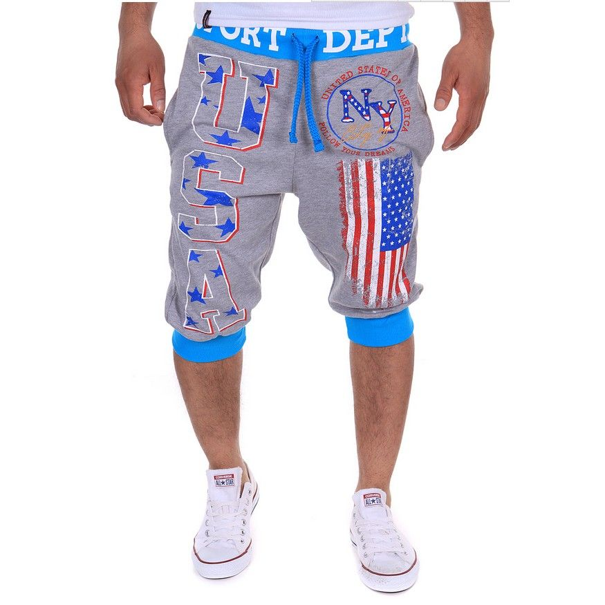 2018 Burst Flag Digital Printing Shorts