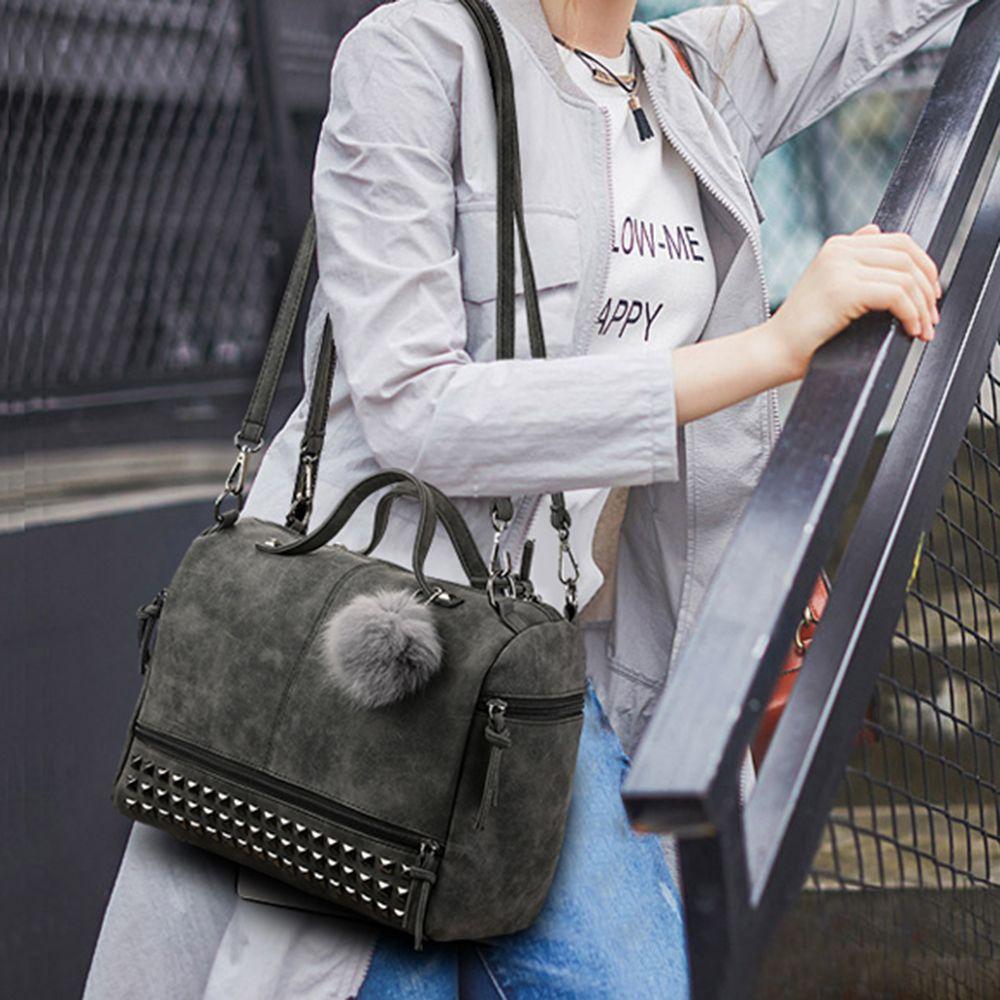 Matte Fur Ball Player Shoulder Bag