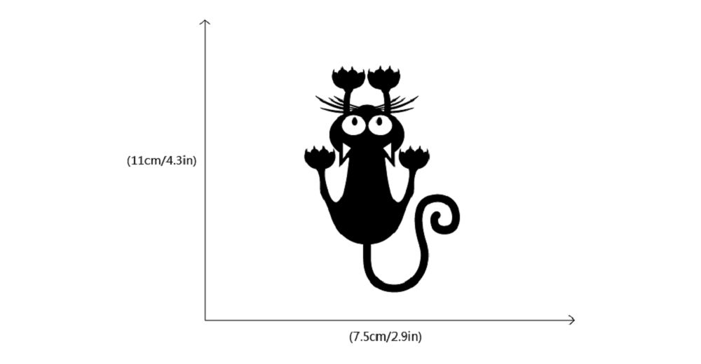2019 cat hanging on light switch sticker wall decal art