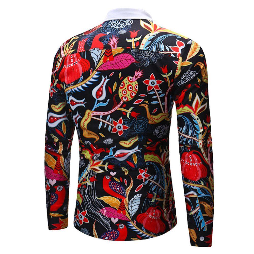 2018 New Men's Cannibal Grass Long Sleeve Shirt