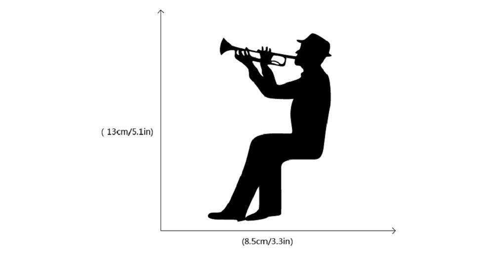 2018 music silhouette light switch sticker trumpet wall